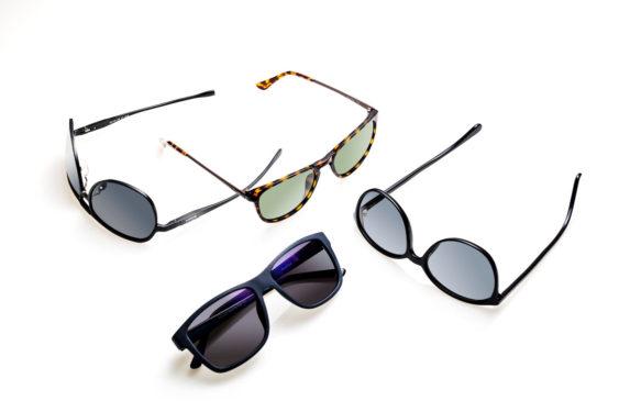 Solbriller produktfoto på hvid